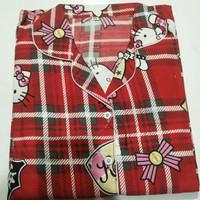 Baju tidur piyama set/ld.118-120/jumbo XXXL/katun mikro/COD - Hk Kt merah, XXXL