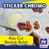 Cetak Sticker Label Bulat Custom Olshop-Chromo Satuan