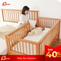 Red Sun Baby Box Anak Multifungsi Kayu Mahoni Solid