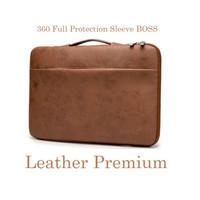 Laptop Asus ZenBook Pro Duo UX581 14 Tas Sleeve Genuine Leather Brown