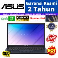 ASUS E410MA FHD451 N4020 DDR4 4GB 512GB SSD 14 FHD W10+OHS
