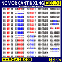 Nomor Cantik XL TRIPLE ABAB AABB - Nomer Cantik XL ABAB KWARTET PANCA