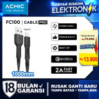 ACMIC Flexy Line Kabel Data Charger 100cm Fast Charging Cable