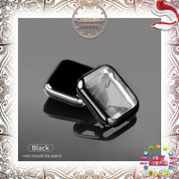 Casing Apple Watch Series 1 2 3 4 5 / 38 40 42 44MM Case Silikon Cover - Hitam, 38 MM