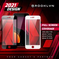 Brooklyn Tempered Glass iPhone SE/7/8 Plus/Non-Plus Black/White 3DFull - 7/8+MATTE WHITE