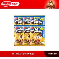 Choco Chip Cereal SIMBA - 6 Pillow Cokelat 80gr + 25% Extra