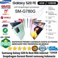 Samsung Galaxy S20 Fe snapdragon 8gb/128gb S20FE 8/128 SM-G780 RESMI