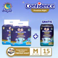 Confidence Popok Dewasa Premium Night M15 BUY 2 Free Premium Night M8