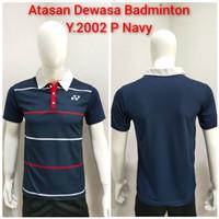 Baju Badminton Kerah Kaos Bulutangkis Atasan Dewasa Y.2002 -P
