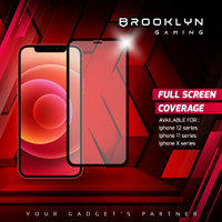 Brooklyn GAMING Tempered Glass iPhone X 11 12 All Series 3D MATTE.