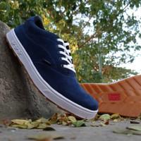 vans sepatu pria biru navy murah sneakers bandung berkualitas sol gum