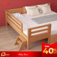 Red Sun Ranjang Baby Box Modern Kayu Mahoni Solid