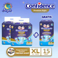 Confidence Popok Dewasa Premium Night XL15 BUY2 Free Premium Night XL6