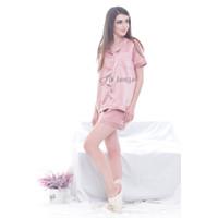 Baju Tidur Satin Piyama Rose Gold - S