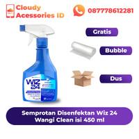 Disinfectant / Disinfektan Spray Semprotan WIZ24 / WIZ 24 450 ML Murah - Clean / Biru