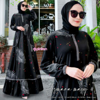 baju gamis wanita terbaru jumbo Asmara maxy Ld.100-130 fit m-xxl