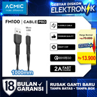 ACMIC Flexy Line Kabel Data Charger 100cm Fast Charging Cable - Micro USB FM100