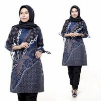 Baju Atasan Batik Wanita Terbaru / Tunik Batik Jumbo / Dress Batik