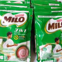 Susu Milo 3 in 1 sachet renceng 10pcs × 35g