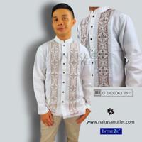 INTRESSE - Atasan Pria Baju Koko Lengan Panjang Dewasa Putih G1