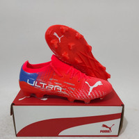 Sepatu Bola Puma Ultra 1.2 Red Blue White
