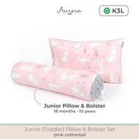 Aurora Baby Toddler Junior Pillow Set, Bantal Guling Set Anak 1-10Thn - Pink CottonTail