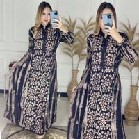 gamis twill/gamis rayon/gamis batik/baju wanita/gamis murah
