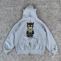 DC COMIC BATMAN X BAPE FULL ZIPHOODIE