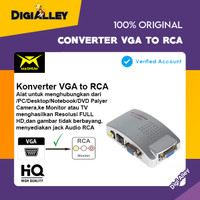 Converter VGA To RCA Cable S-Video Magnum AV Adapter VGA Input For PC
