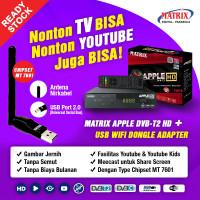 STB MATRIX DVBT-2 APPLE HD + WIFI DONGLE (Free Kabel HDMI)