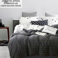 Bed Cover set sprei Bahan Katun Jepang