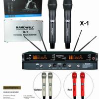 Mic Wireless Hardwell X-1 Original + Hardcase -- 2buah Mic Pegang
