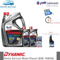 Paket Ganti Oli Mobil Diesel [Dynamic Commonrail 10W30] 8L