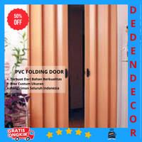 PVC folding door   pintu plastik penyekat ruangan
