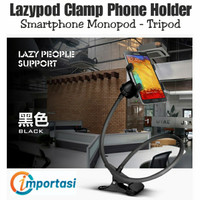 Lazypod Clamp Smartphone Holder Flexible Monopod Tripod Rotasi 360