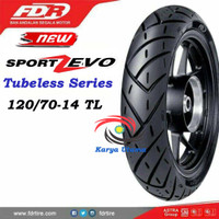 Ban Luar Federal FDR 120/70-14 120/70 Ring 14 Tubeless Sport Zevo