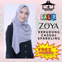 Kerudung Hijab Jilbab Segi Empat Polos Zoya Casual Sparkling Scarf 4