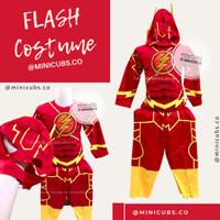 Setelan Stelan Kostum Karakter Flash Baju Superhero Anak Laki Cowok