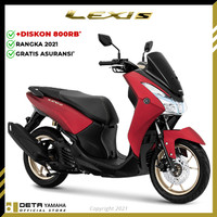 DETA-Yamaha LEXI S 2021 (OTR JADETABEK) Sepeda Motor - Merah