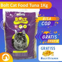Makanan Kucing Bolt Terbaik Cat Food Bolt Repack 1Kg Free Multivitamin