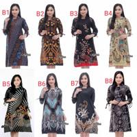 Atasan Wanita Soft Tunik Batik Terbaru   Baju Batik wanita modern