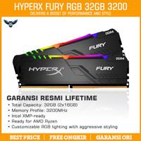 Ram Kingston HyperX Fury RGB 32GB Kit 3200 (16GBx2) DDR4 PC 3200Mhz
