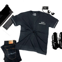 Kaos Oblong Atasan Baju Pria Lengan Pendek / Anak Tanggung Combed - Abu Tua, XL