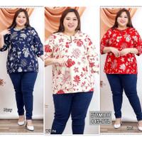 Blouse Batik Super Jumbo 445 Bigsize Baju Atasan Wanita Big Size vol18