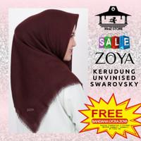 Kerudung Jilbab Hijab Segi Empat Polos Zoya Unvinised Swarovski Scarf
