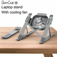 LAPTOP STAND ALUMINIUM FOLDABLE WITH COOLING FAN