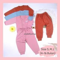 3 setelan baju piyama anak bayi perempuan 0 6 12 16 bulan little q