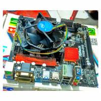motherboard Prosesor ASRock h110M DVS processor g4600 kabylake