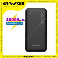 AWEI Fast Charging LED Powerbank 10000mAh Dual USB P28K 10.000 mAh