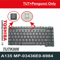 Tombol TUTS Pengunci Keyboard Laptop TOSHIBA A135 MP-03436E0-6984